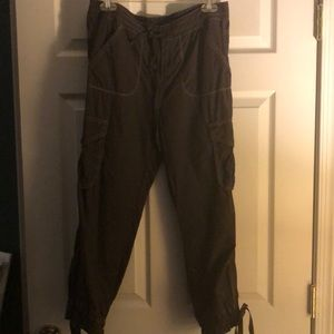 Dark Brown Cargo Capris